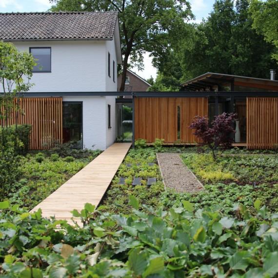 Moderne tuinarchitectuur-architectuur