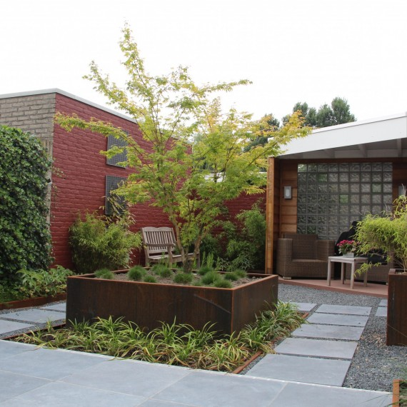 Tuinontwerp onderhoudsvriendelijke tuin