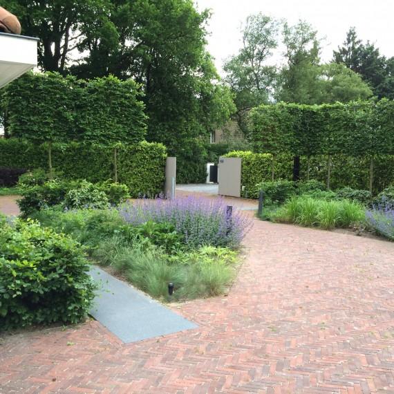 Landelijke tuin met een natuurlijke beplanting bij modern landgoed Tilburg