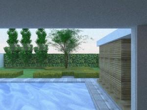 Tuinontwerp landelijke tuin 3D