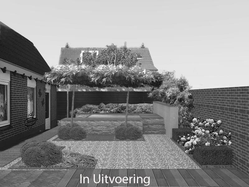 Tuinontwerp Veldhoven met jaccuzzi