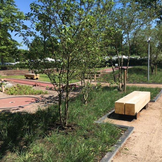 Ontwerp parkbanken vakantiepark
