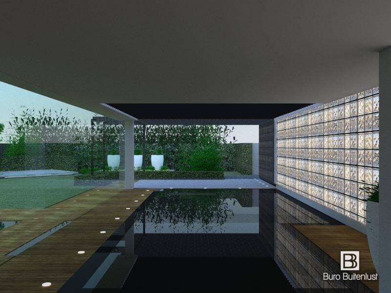Zwembad tuinontwerp 3D