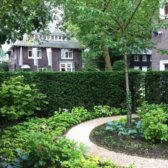 Tuinontwerp bij klassieke stadsvilla Eindhoven
