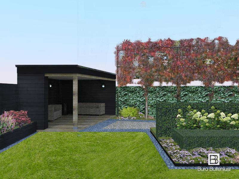 Voor een stadsvilla in Strijp Eindhoven is een tuinontwerp gemaakt door Buro Buitenlust